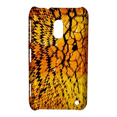 Yellow Chevron Zigzag Pattern Nokia Lumia 620 by BangZart