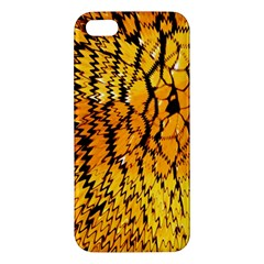 Yellow Chevron Zigzag Pattern Iphone 5s/ Se Premium Hardshell Case by BangZart