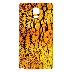 Yellow Chevron Zigzag Pattern Galaxy Note 4 Back Case by BangZart