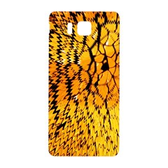 Yellow Chevron Zigzag Pattern Samsung Galaxy Alpha Hardshell Back Case by BangZart