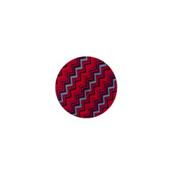 Red Turquoise Black Zig Zag Background 1  Mini Magnets