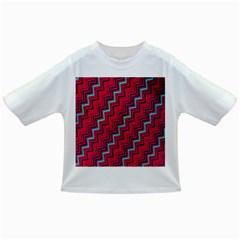 Red Turquoise Black Zig Zag Background Infant/toddler T Shirts