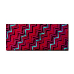 Red Turquoise Black Zig Zag Background Cosmetic Storage Cases