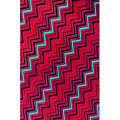 Red Turquoise Black Zig Zag Background 5 5  X 8 5  Notebooks by BangZart