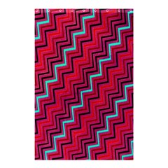 Red Turquoise Black Zig Zag Background Shower Curtain 48  X 72  (small)