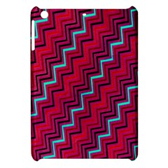 Red Turquoise Black Zig Zag Background Apple Ipad Mini Hardshell Case