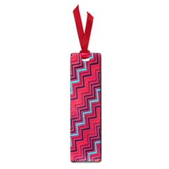 Red Turquoise Black Zig Zag Background Small Book Marks by BangZart