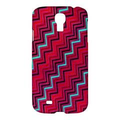Red Turquoise Black Zig Zag Background Samsung Galaxy S4 I9500/i9505 Hardshell Case by BangZart