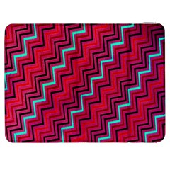 Red Turquoise Black Zig Zag Background Samsung Galaxy Tab 7  P1000 Flip Case