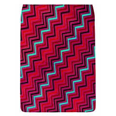 Red Turquoise Black Zig Zag Background Flap Covers (s)  by BangZart
