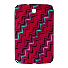 Red Turquoise Black Zig Zag Background Samsung Galaxy Note 8 0 N5100 Hardshell Case