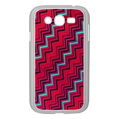 Red Turquoise Black Zig Zag Background Samsung Galaxy Grand Duos I9082 Case (white) by BangZart