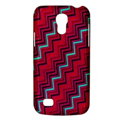Red Turquoise Black Zig Zag Background Galaxy S4 Mini by BangZart