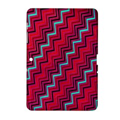 Red Turquoise Black Zig Zag Background Samsung Galaxy Tab 2 (10 1 ) P5100 Hardshell Case
