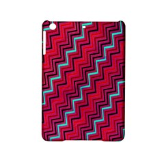 Red Turquoise Black Zig Zag Background Ipad Mini 2 Hardshell Cases by BangZart