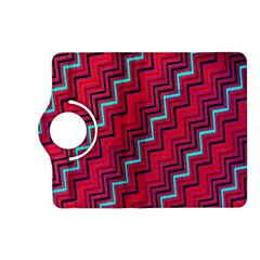 Red Turquoise Black Zig Zag Background Kindle Fire Hd (2013) Flip 360 Case by BangZart
