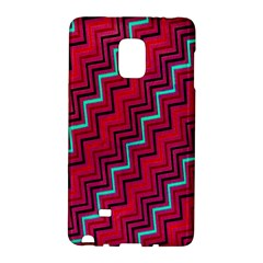 Red Turquoise Black Zig Zag Background Galaxy Note Edge