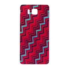 Red Turquoise Black Zig Zag Background Samsung Galaxy Alpha Hardshell Back Case by BangZart