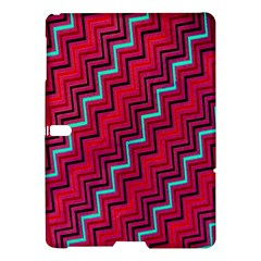 Red Turquoise Black Zig Zag Background Samsung Galaxy Tab S (10 5 ) Hardshell Case  by BangZart