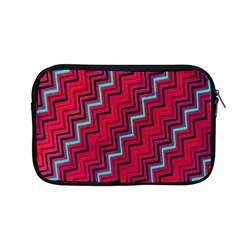 Red Turquoise Black Zig Zag Background Apple Macbook Pro 13  Zipper Case by BangZart