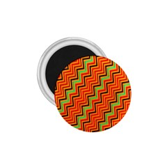 Orange Turquoise Red Zig Zag Background 1 75  Magnets by BangZart