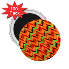Orange Turquoise Red Zig Zag Background 2 25  Magnets (100 Pack)  by BangZart