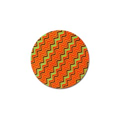 Orange Turquoise Red Zig Zag Background Golf Ball Marker by BangZart