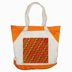 Orange Turquoise Red Zig Zag Background Accent Tote Bag
