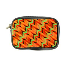 Orange Turquoise Red Zig Zag Background Coin Purse by BangZart