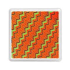 Orange Turquoise Red Zig Zag Background Memory Card Reader (square)