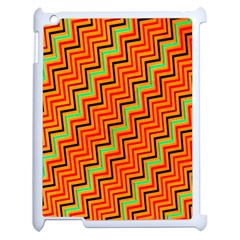 Orange Turquoise Red Zig Zag Background Apple Ipad 2 Case (white)