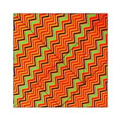 Orange Turquoise Red Zig Zag Background Acrylic Tangram Puzzle (6  X 6 ) by BangZart