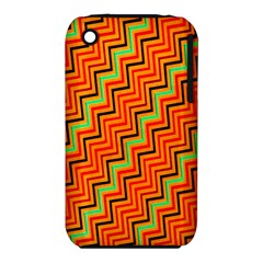 Orange Turquoise Red Zig Zag Background Iphone 3s/3gs