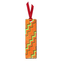 Orange Turquoise Red Zig Zag Background Small Book Marks by BangZart