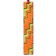 Orange Turquoise Red Zig Zag Background Large Book Marks