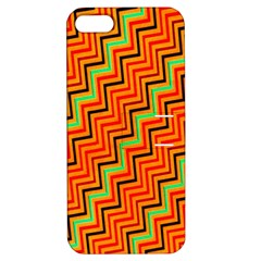 Orange Turquoise Red Zig Zag Background Apple Iphone 5 Hardshell Case With Stand by BangZart