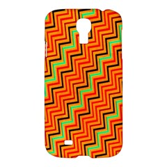 Orange Turquoise Red Zig Zag Background Samsung Galaxy S4 I9500/i9505 Hardshell Case by BangZart