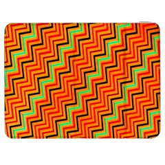 Orange Turquoise Red Zig Zag Background Samsung Galaxy Tab 7  P1000 Flip Case