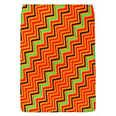 Orange Turquoise Red Zig Zag Background Flap Covers (s)  by BangZart