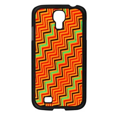 Orange Turquoise Red Zig Zag Background Samsung Galaxy S4 I9500/ I9505 Case (black) by BangZart