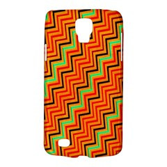Orange Turquoise Red Zig Zag Background Galaxy S4 Active by BangZart