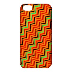 Orange Turquoise Red Zig Zag Background Apple Iphone 5c Hardshell Case by BangZart