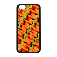 Orange Turquoise Red Zig Zag Background Apple Iphone 5c Seamless Case (black) by BangZart