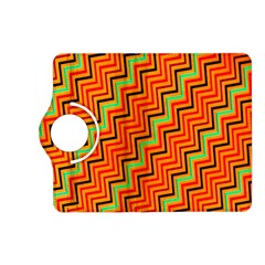 Orange Turquoise Red Zig Zag Background Kindle Fire Hd (2013) Flip 360 Case by BangZart