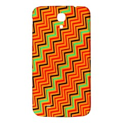 Orange Turquoise Red Zig Zag Background Samsung Galaxy Mega I9200 Hardshell Back Case
