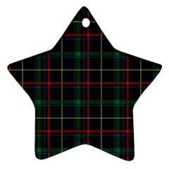 Tartan Plaid Pattern Ornament (star) by BangZart