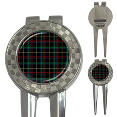 Tartan Plaid Pattern 3 In 1 Golf Divots
