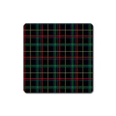 Tartan Plaid Pattern Square Magnet by BangZart