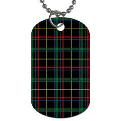 Tartan Plaid Pattern Dog Tag (one Side)