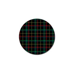 Tartan Plaid Pattern Golf Ball Marker